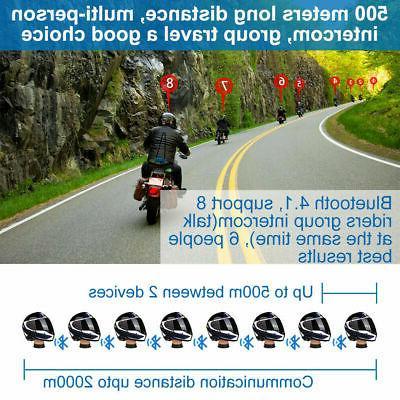 2000m Motorcycle Helmet Bluetooth Communication System