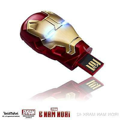 3 helmet light up flash drive usb