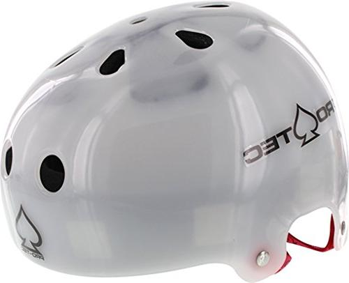 Pro-Tec Bucky Lasek Classic Translucent White Skate Helmet -