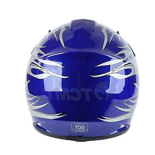 TCMT Dot Kids Offroad Street Helmet Helmet Silver