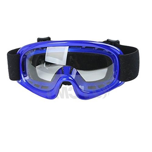 TCMT Dot Youth Kids Offroad Street Helmet Blue Skull Motorcycle Helmet Helmet+Goggles+gloves L