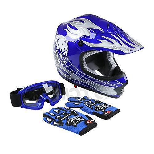 TCMT Youth Kids Helmet Helmet Bike Helmet+Goggles+gloves