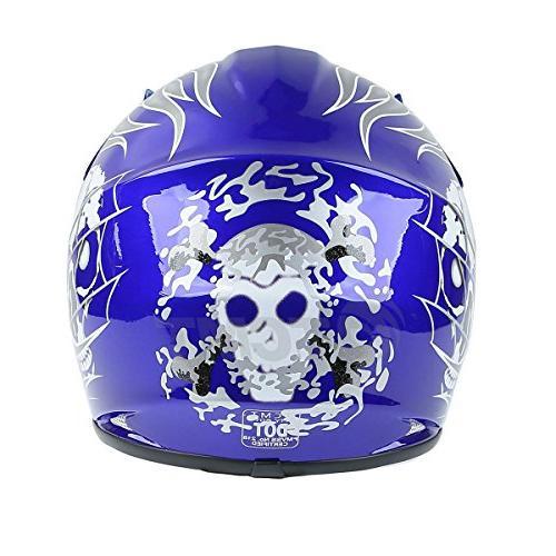 Kids Offroad Street Helmet Skull Helmet Dirt Bike Helmet+Goggles+gloves