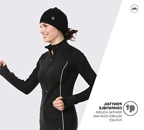 Tough Helmet Liner Skull Cap Beanie Ear Covers. Thermal Retention Performance Wicking. Fits Under