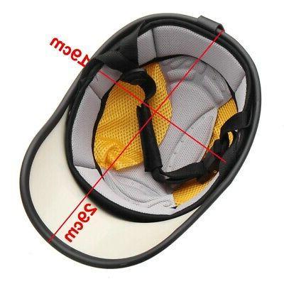 Safety Helmet Adjustable Leather Windproof