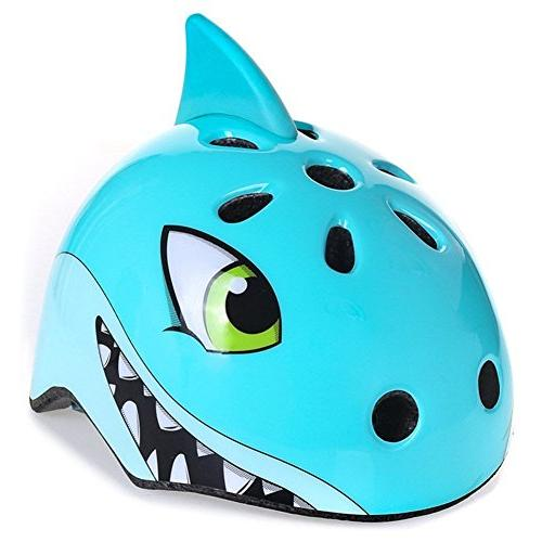 awesome boys girls shark safety helmet children multi sport