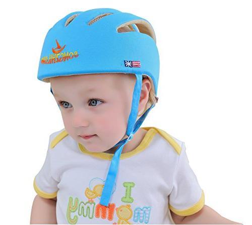 Huifen Toddler Adjustable Safety Headguard Protective Cap Blue, Providing Safer When Walk Baby Infant Blue Hat