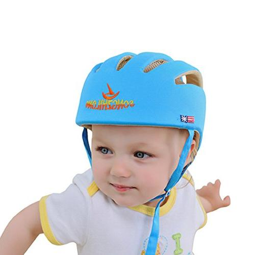 Huifen Toddler Adjustable Safety Headguard Protective Harnesses Blue, When Learning Walk Playing Infant Blue