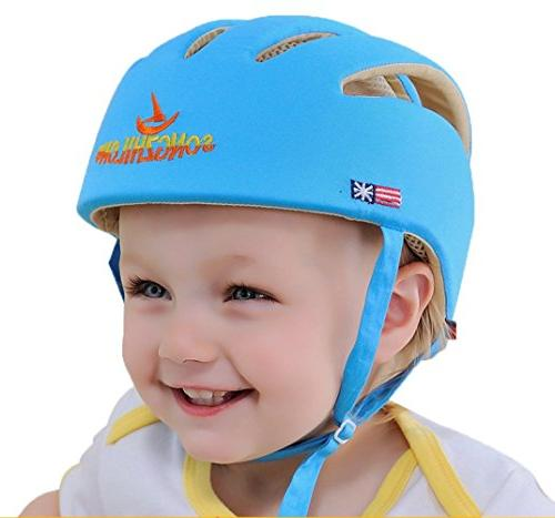 Huifen Baby Toddler Adjustable Headguard Blue, When Walk Playing Blue