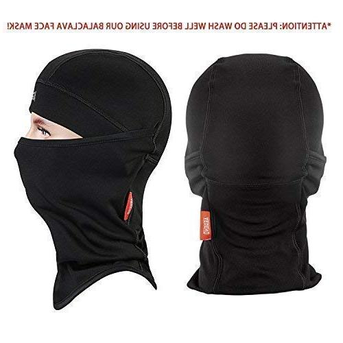 Balaclava Aegend Windproof Face Mask Neck Warmer Hood Polyester Women Snowboard Cycling Liner 1