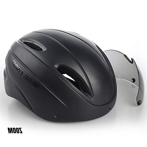 BASE CAMP Zoom/Zoom Road Bike Helmet with Removable Visor