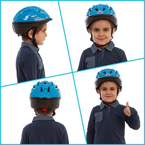 TeamObsidian – Adjustable to Youth Size, Ages 3-7 - Bicycle Helmets Aquatic Will Love - Certified -