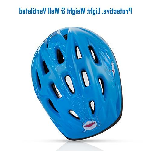 TeamObsidian to Youth Size, Ages 3-7 Bicycle Helmets with Fun Aquatic - FunWave