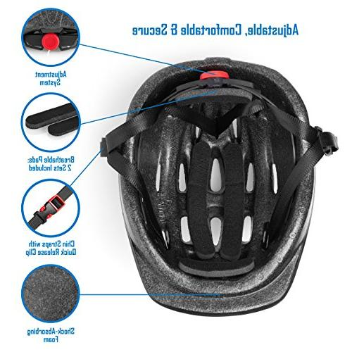 TeamObsidian – Adjustable to Size, 3-7 - Durable Bicycle Helmets Aquatic Design Will Love CSPC -