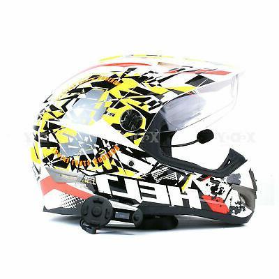 Bluetooth T20s Motorbike Helmet Headset FM Radio
