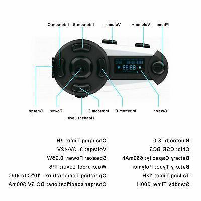 Bluetooth Motorbike Helmet Headset Speaker FM Radio