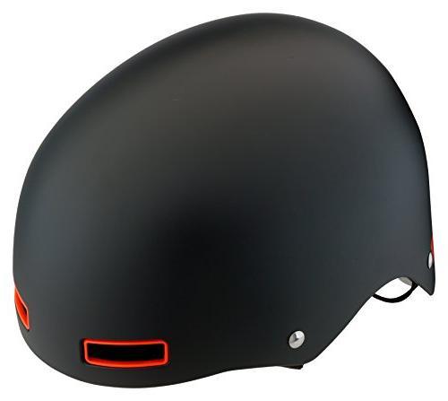 Mongoose Skull Helmet with Orange Inserts