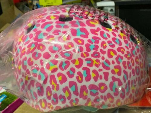 burst child multi sport pink bicycle helmet