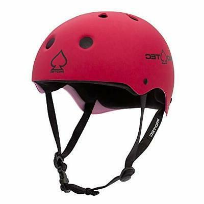 classic skate helmet matte pink small
