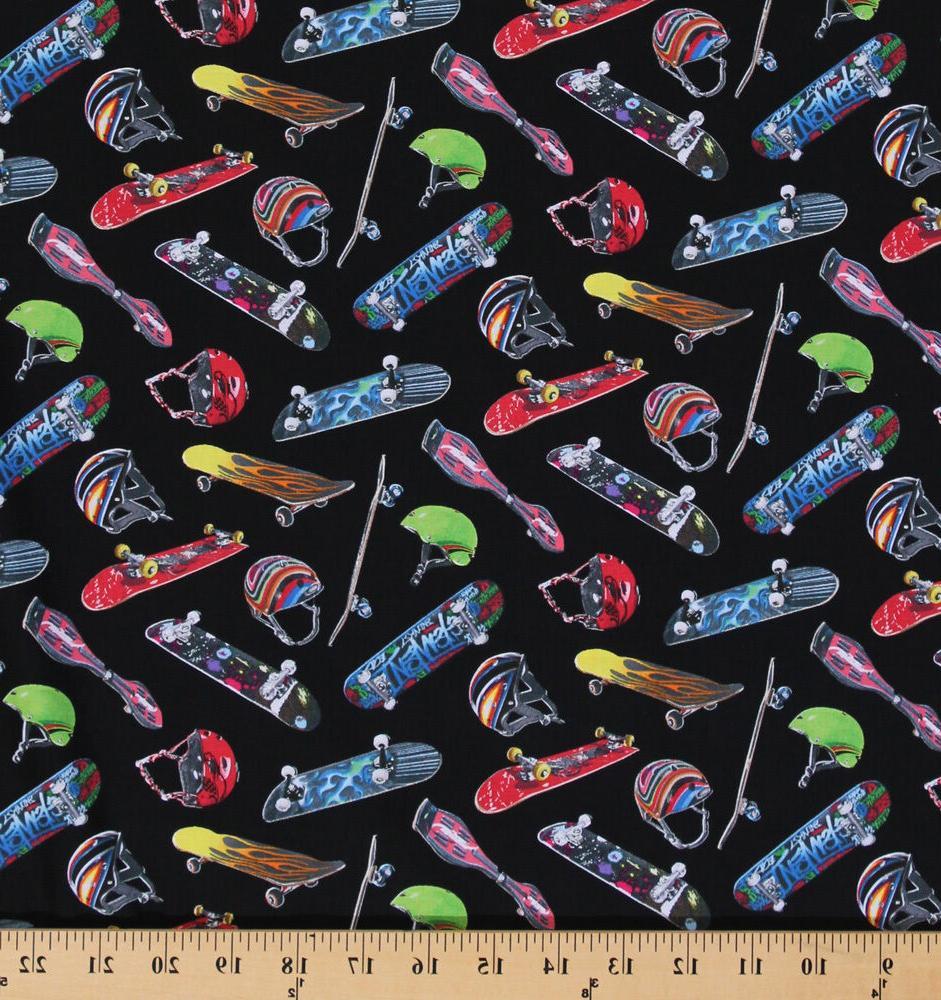 Cotton Sports Skateboard Equipment Helmet Cotton Fabric Prin