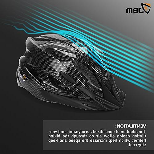 JBM Adult Cycling Helmet Specialized for Women Protection CPSC Certified Black/Red / / and Remova