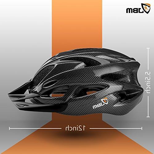 JBM Adult Helmet Men Women Certified / Adjustable Helmet with Reflective Stripe and