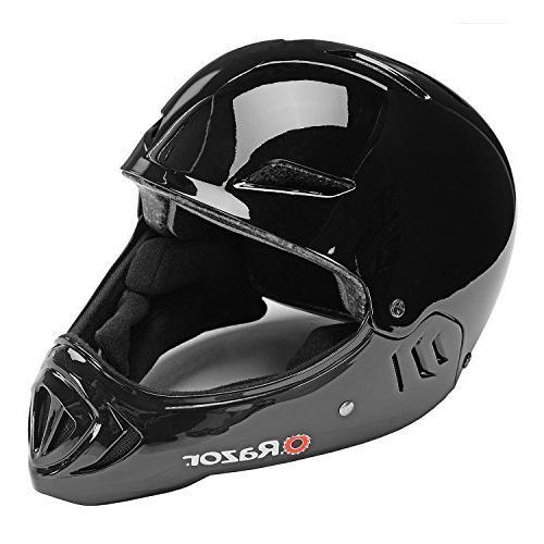 Razor Face Safety Outdoor Sports Helmet, Gloss Black 97878