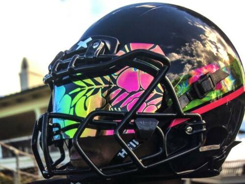 football helmet visor eye shield aloha hawaii
