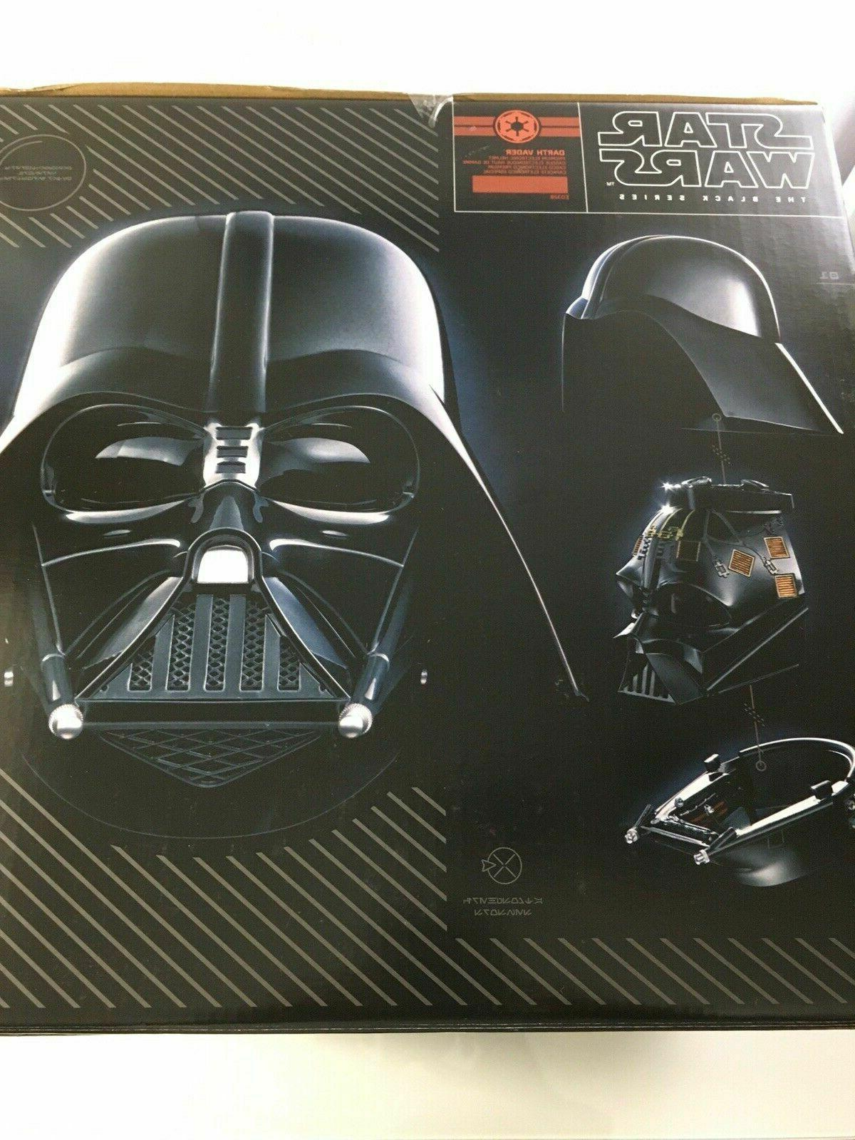 HASBRO Star Wars Black Darth Premium Electronic Helmet