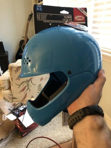 kids 5 8 blue shield bike helmet
