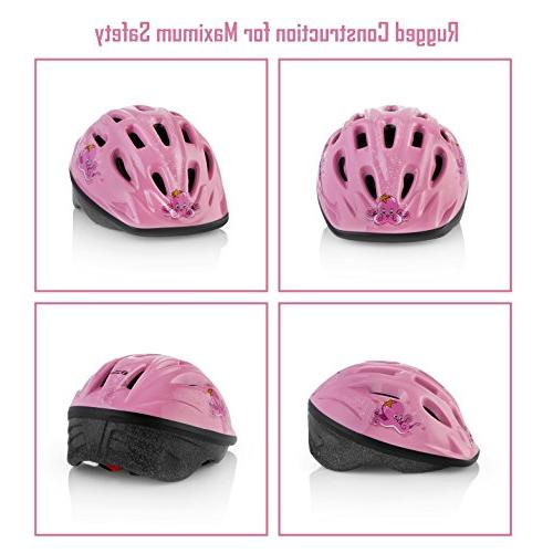 KIDS Adjustable from Youth Size, Ages 3-7 - Helmets Fun Design will Certified Comfort -