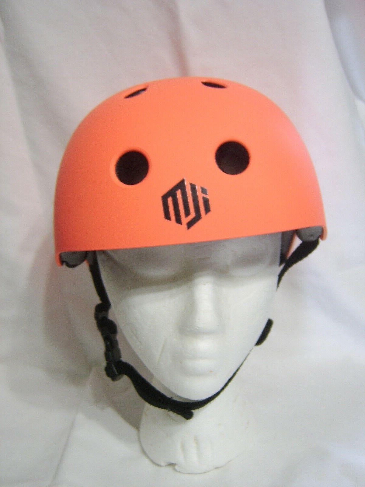 kids skate boarding safety helmet color orange