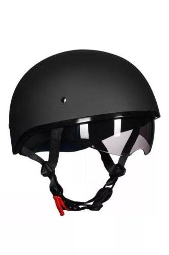 ILM Motorcycle Half Helmet w/Sunshield Quick Half