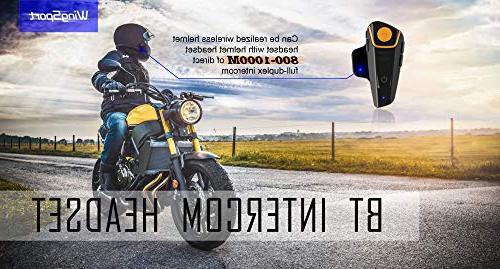 WingSport Motorcycle Helmet Bluetooth Headset,BT-S2 Bluetooth System Headphones or 3