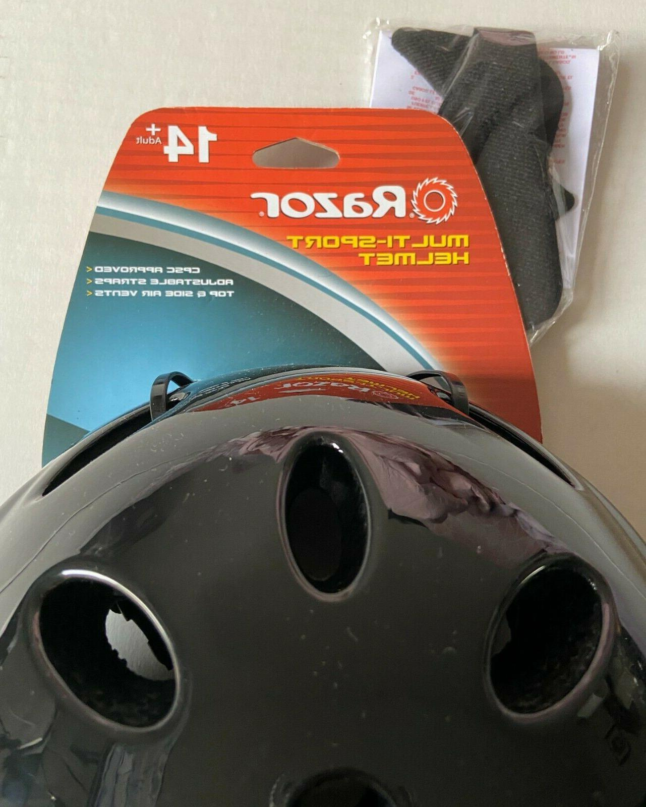 """Razor Multi Helmet 14+ Adjustable Strap 23-25"""" Head Circumference"""