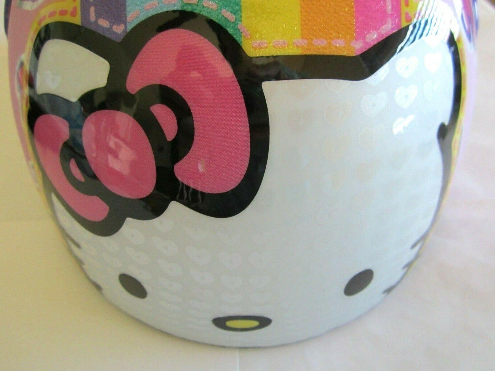 Hello Kitty Multi-Sport Helmet Cycling Rainbow Girls Years NEW