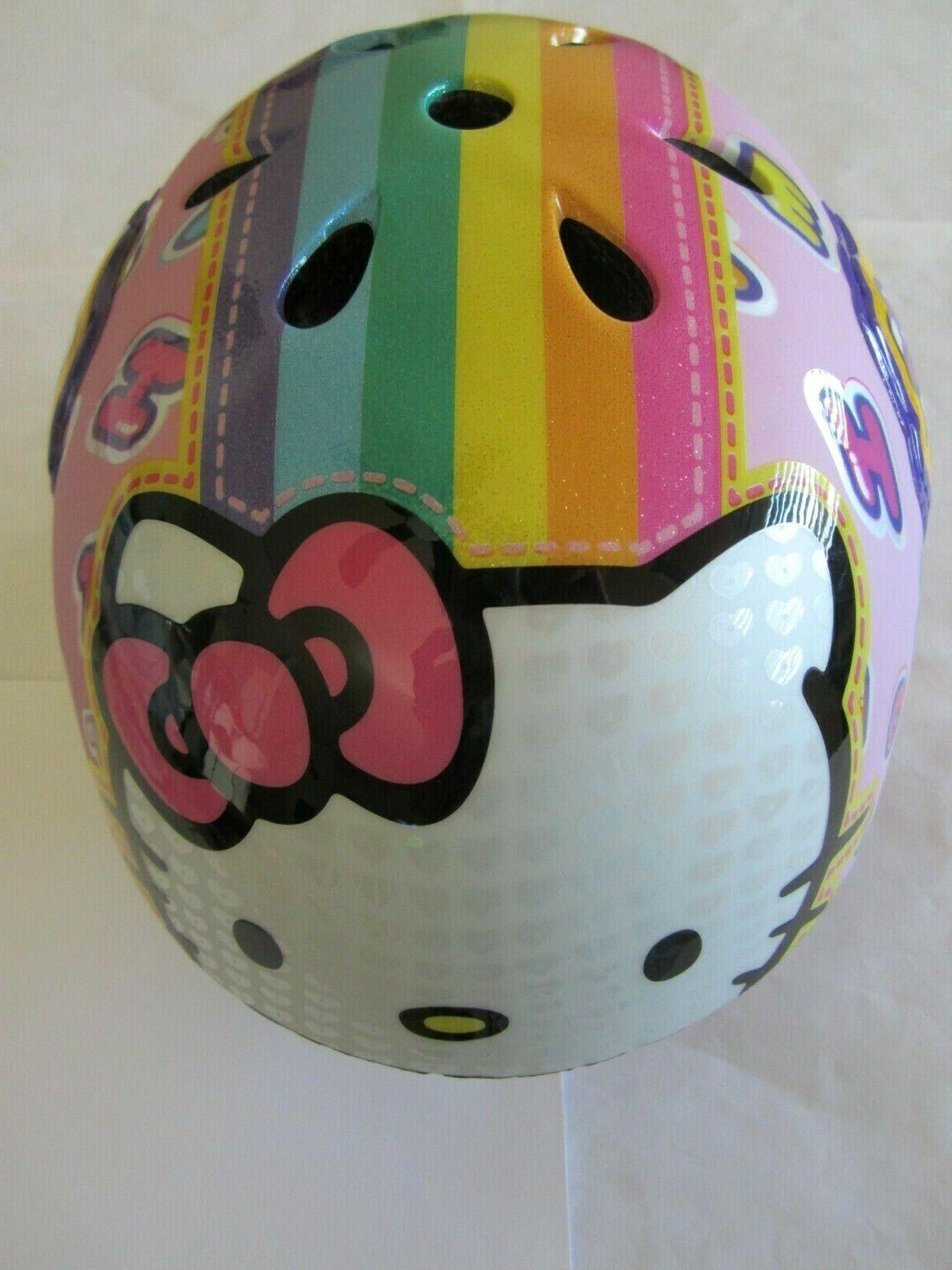 multi sport helmet cycling rainbow pink girls