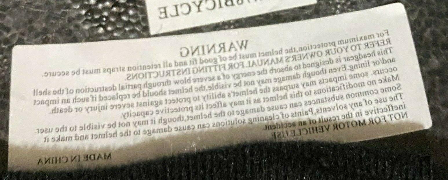 """NEW Black Bicycle Helmet 21.5""""- 22.5"""",6-11 years,"""