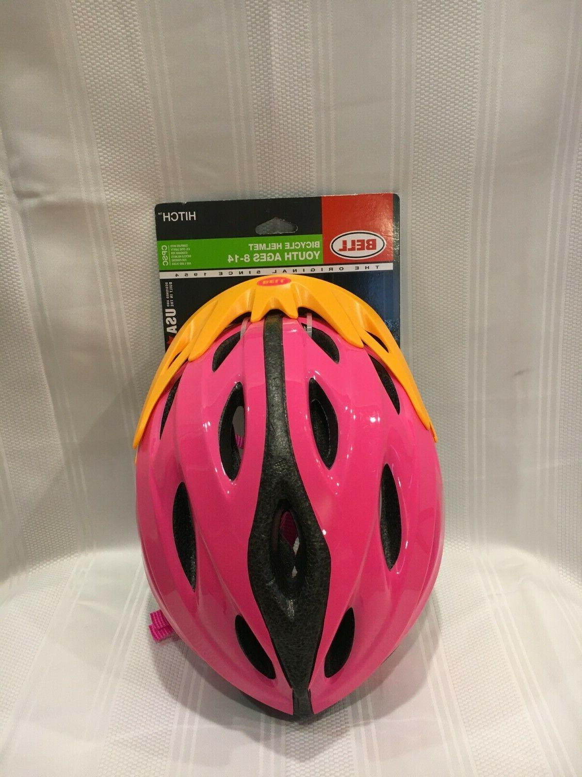 new hitch pink adjustable bicycle helmet youth
