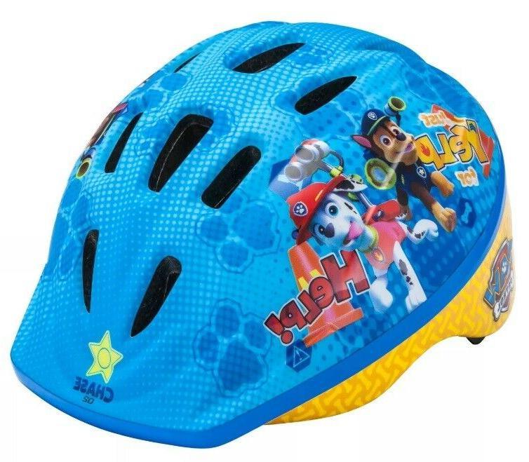 paw patrol boys girls kids bike helmet