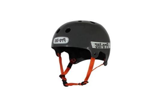 pro tec bucky helmet solid gunmetal grey