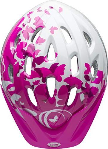 Bell Helmet, Pink/White Flutter
