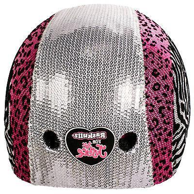 Raskullz Glam Bike Helmet Sequins Pink Print, Size