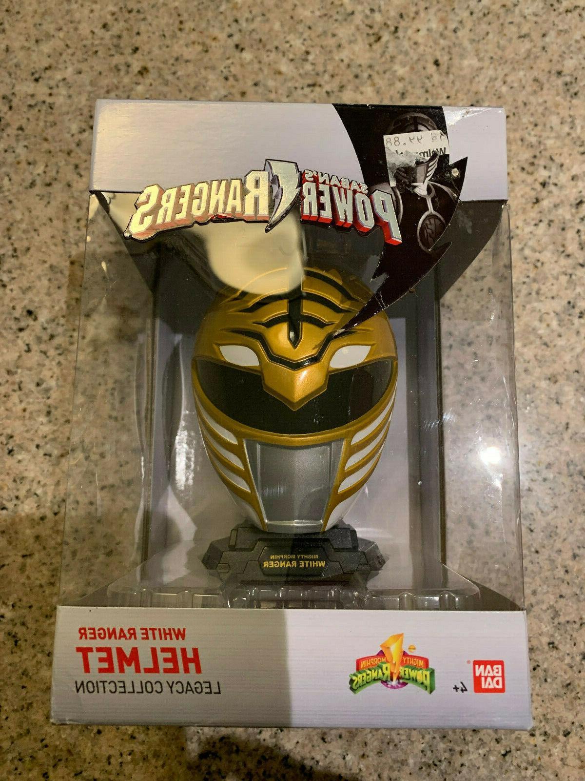 saban s power rangers white ranger helmet