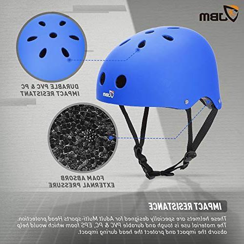 JBM Skateboard Helmet CPSC ASTM Resistance Ventilation Multi-Sports Skateboarding Roller Skate