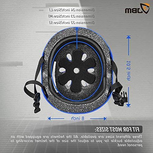 JBM Helmet ASTM Ventilation Skateboarding Scooter Skate Inline Rollerblading
