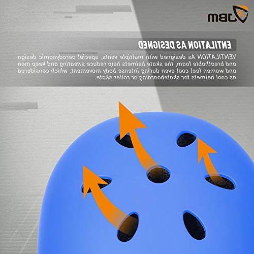 JBM Helmet CPSC ASTM Impact Resistance Ventilation Multi-Sports Cycling Skateboarding Roller Inline Rollerblading
