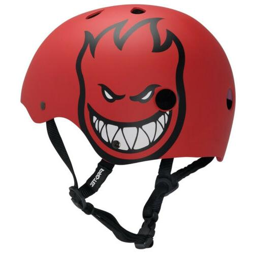 skateboard helmet spitfire bighead red