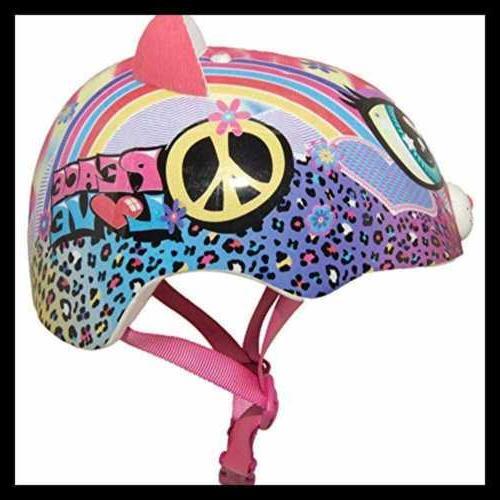 Sparklez Peace Love Kitty Helmet PINK FREE SHIPPING