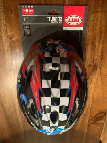 BELL SPROUT Red Blue CARS TODDLER HELMET NEW